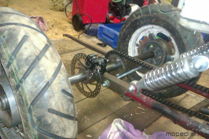 Как сделать трицикл задняя 346