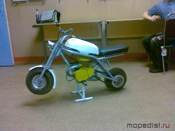 Маленький мотоцикл своими руками 68