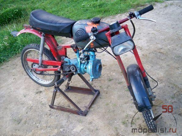 Как из мотоцикла сделать велосипед