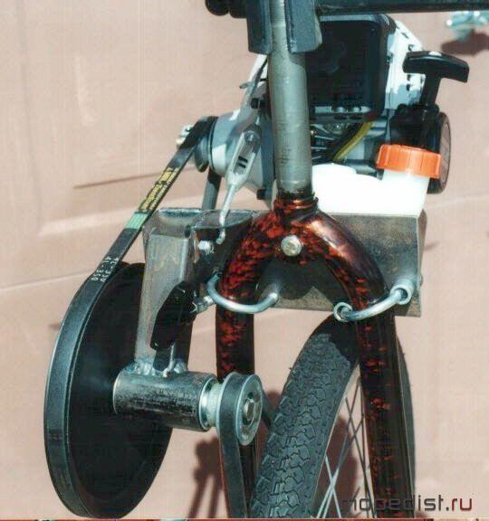 Как сделать велосипед на моторе своими руками видео