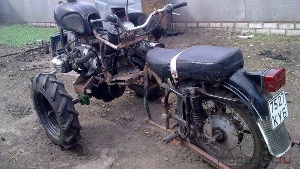 Мотоблок из мотоцикла своими руками