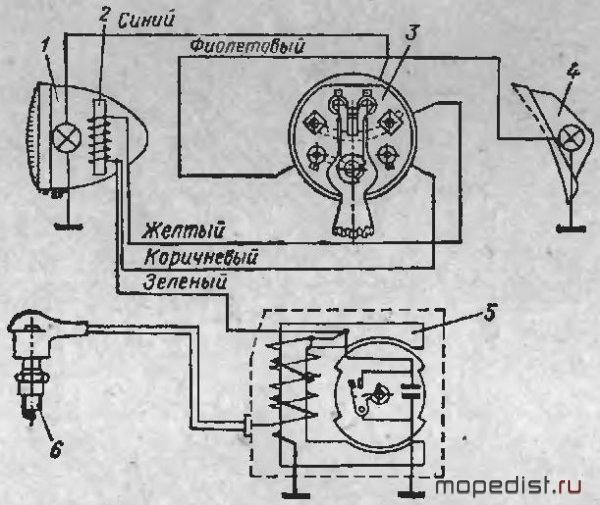 Схема проводки риги 13