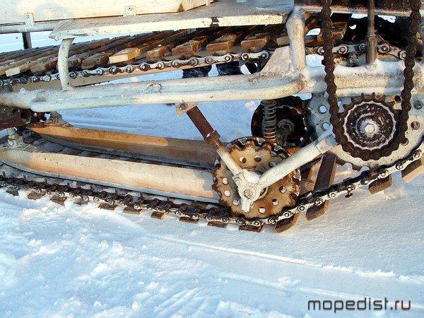 Как сделать гусеницу своими руками на снегоход