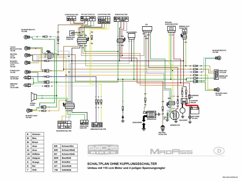 Электросхема MadAss 110