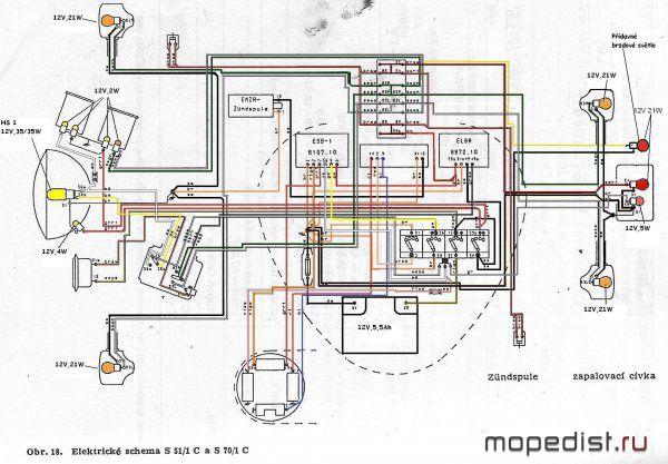 Электросхема Simson S51 и